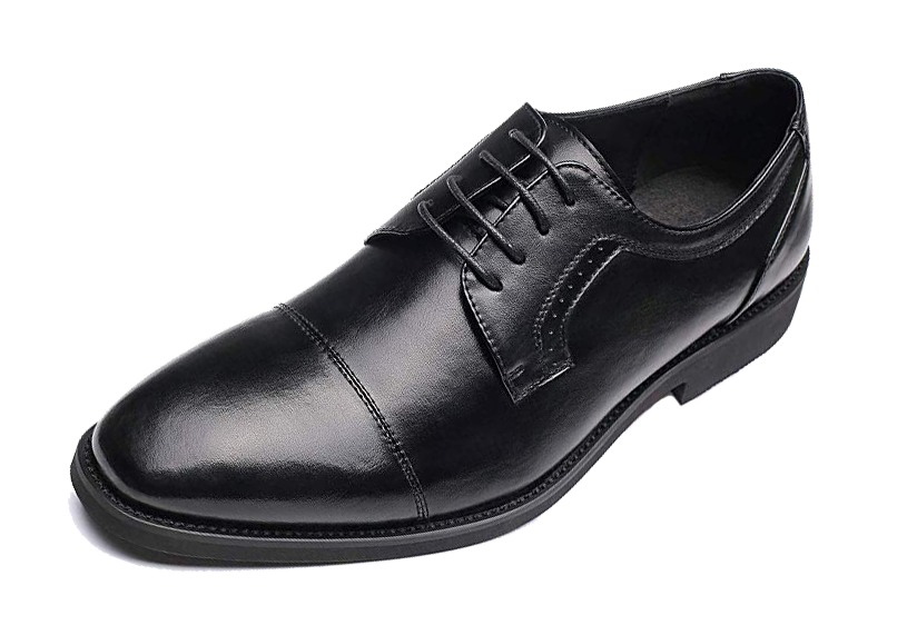 Black cap toe Derbys by Golaiman