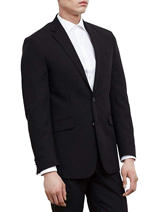 Three-piece set: slim-fit black suit jacket by Kenneth Cole