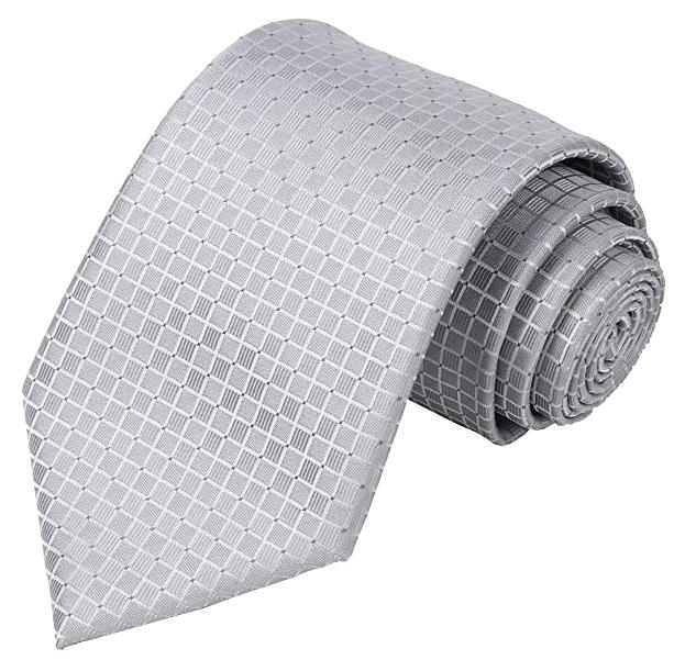 Foulard solid grey tie by Kissties