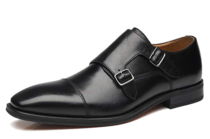 Double monk strap black shoes by La Milano