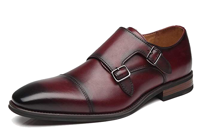 Double monk strap burgundy shoes by La Milano