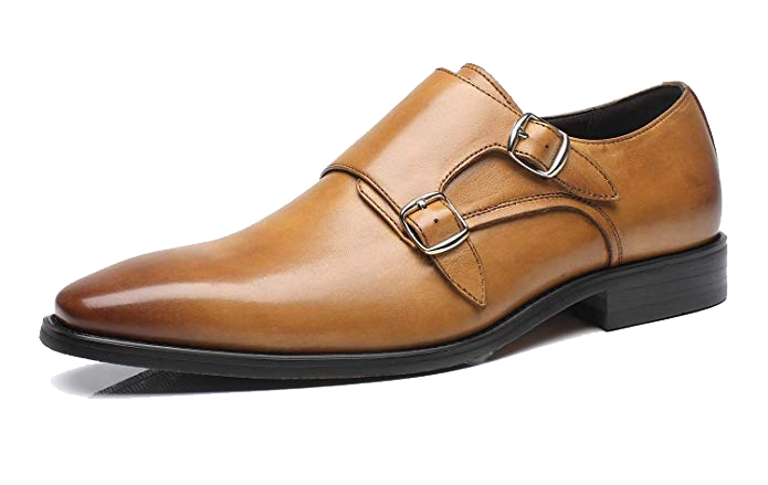 Light brown double monk straps by La Milano