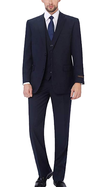 Three-piece classic fit suit by P&L