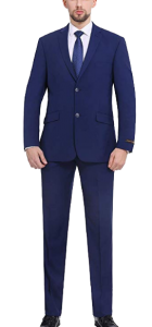 Premium slim fit blue suit by P&L