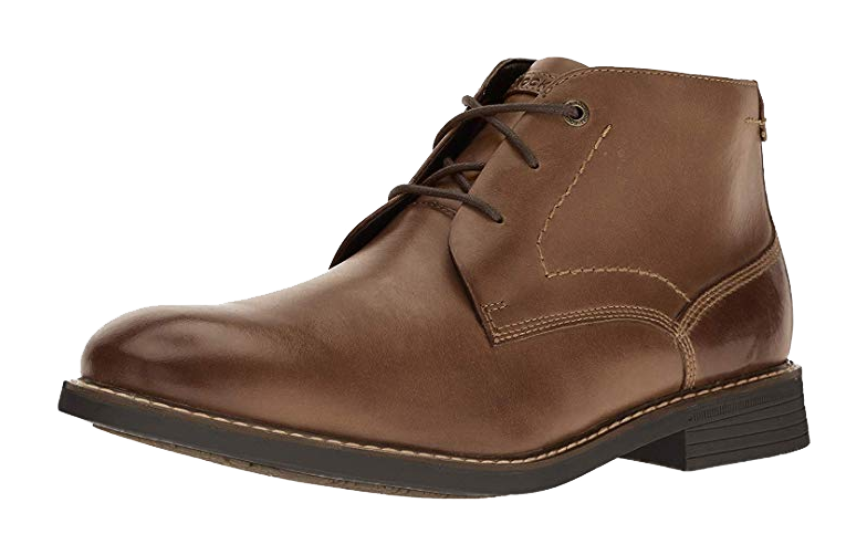Dark brown leather Chukka Boots by Rockport