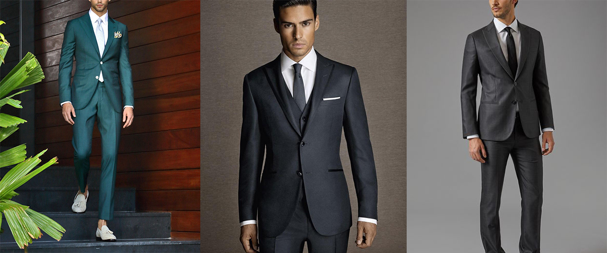 Silk suits combined with other natural suit fabrics