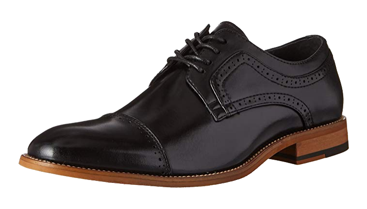 Cap-toe Derby broque shoes by Stacy Adams