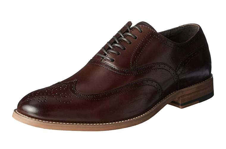 Brown brogue Oxfords by Stacy Adams