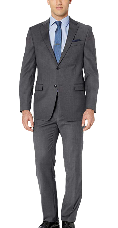 Modern fit charcoal grey suit by Tommy Hilfiger