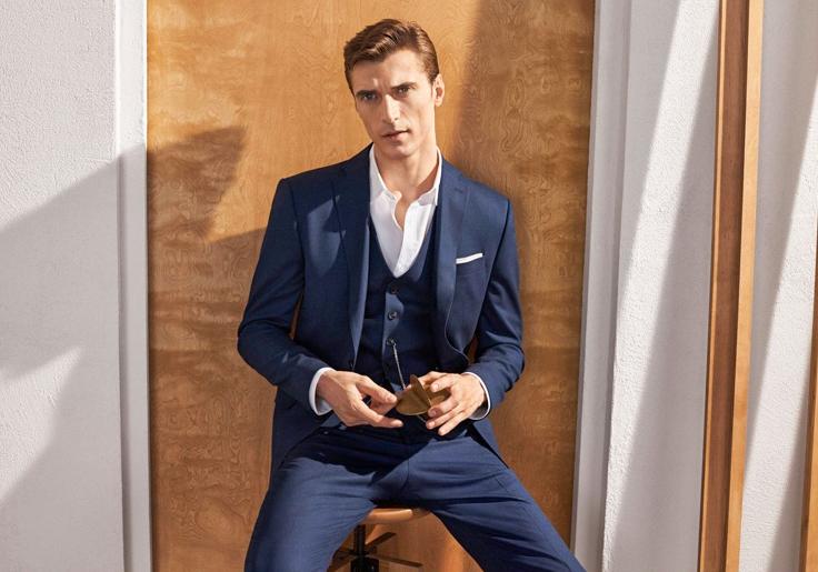 Clement Chabernaud wears a Zara suit