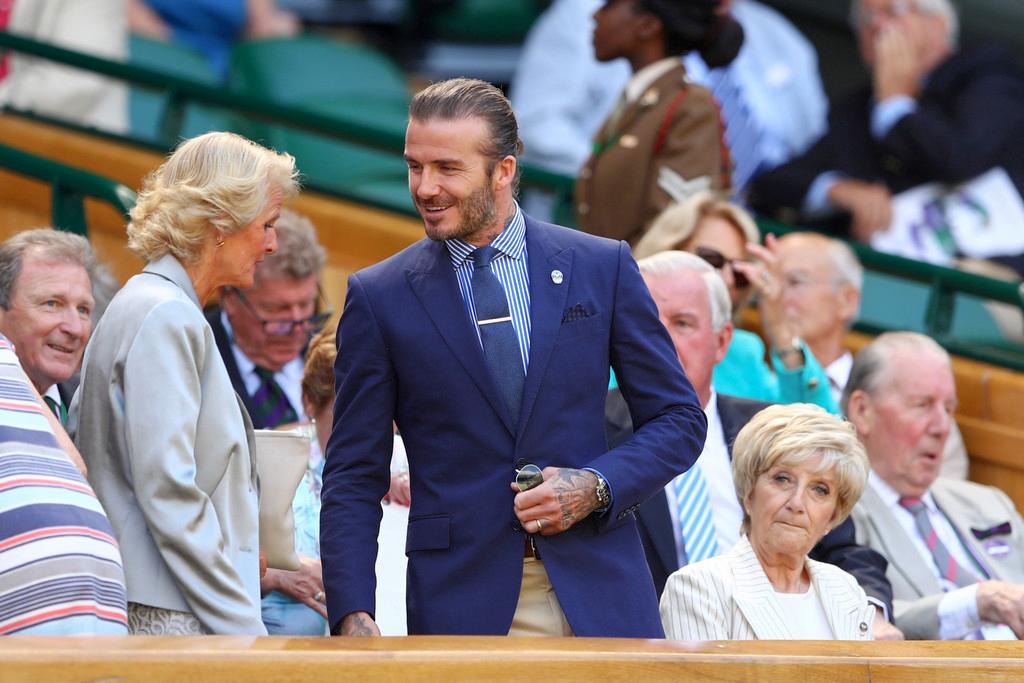 David Beckham wears Ralph Lauren