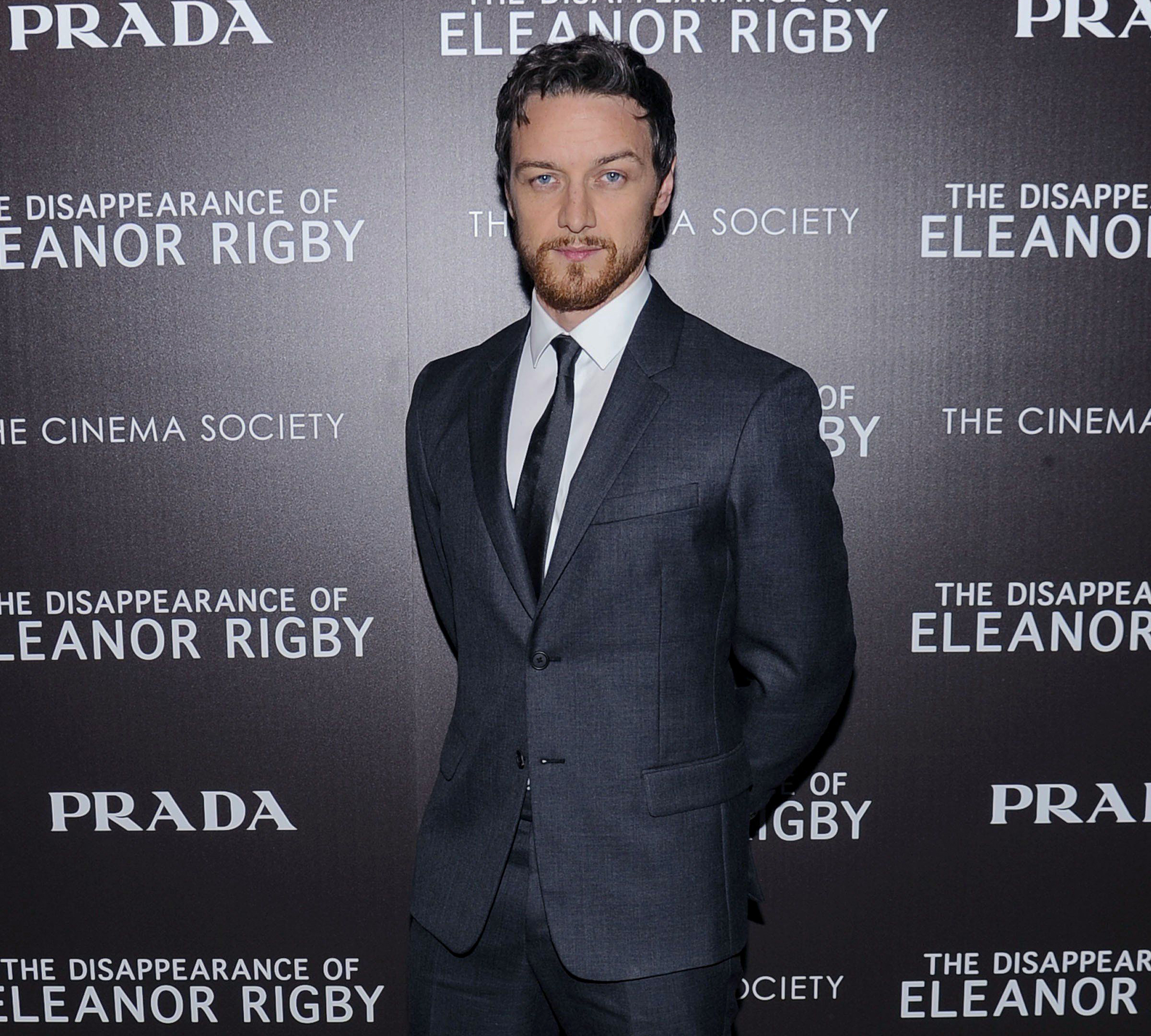 James McAvoy wears a Prada suit