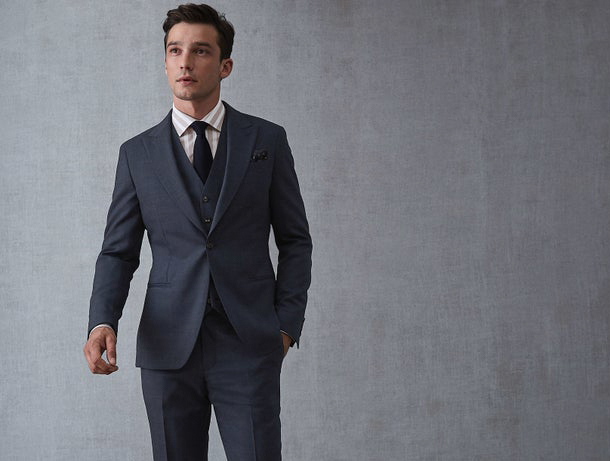 Double-breasted suit by Reiss