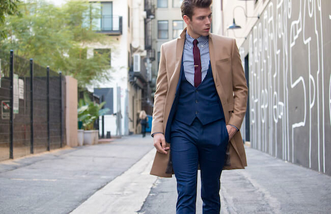 Wear your overcoat on top of your suit