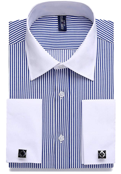 Alimens & Gentle regular fit blue-striped shirt