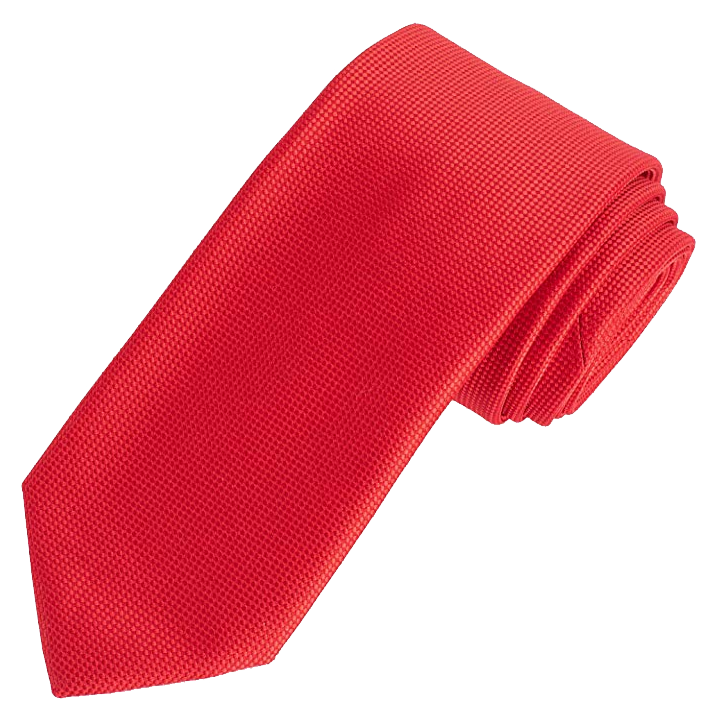 Solid red tie by Amazon Essentials