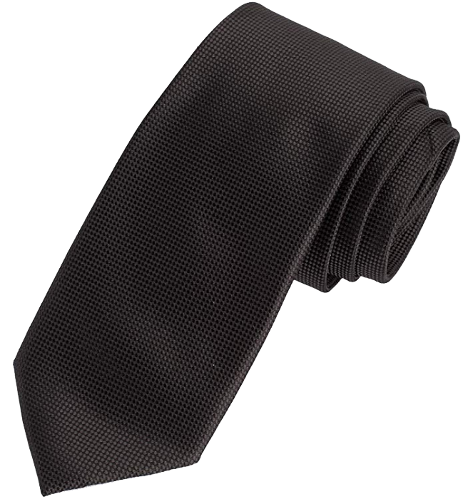 Black solid tie by Amazon Essentials