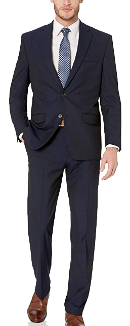 Classic-fit navy suit by Chaps
