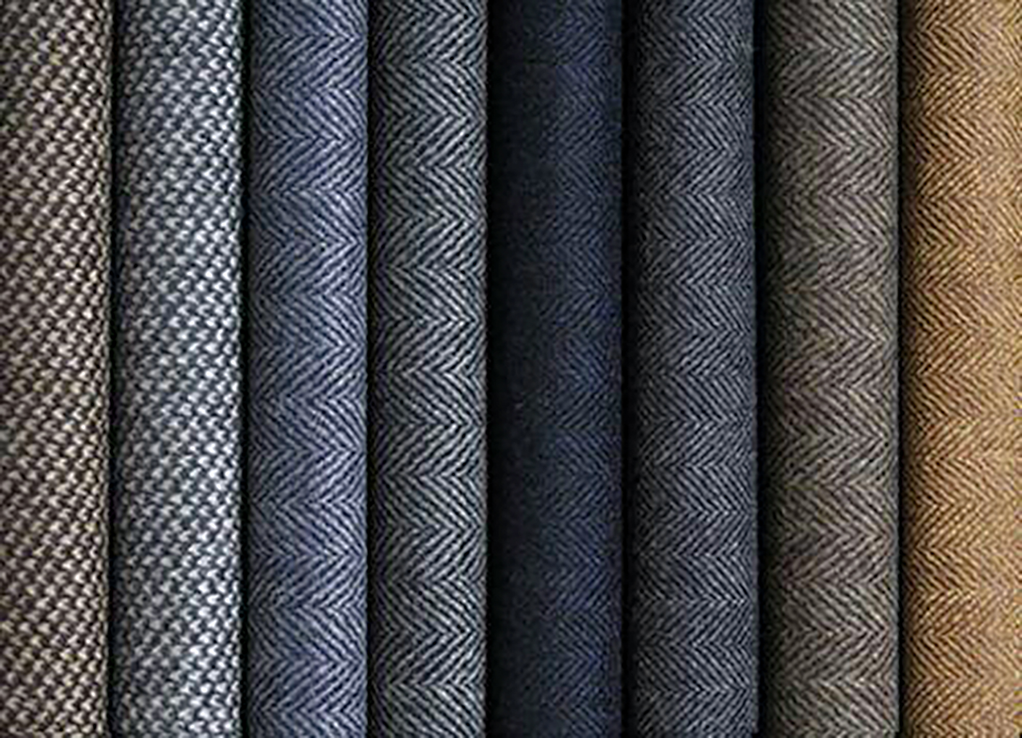 different types of suit fabrics