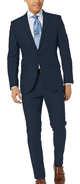 Slim-fit navy suit by Kenneth Cole
