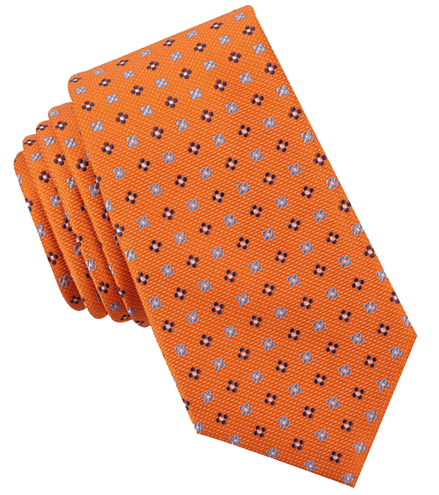 Foulard orange tie by Nautica