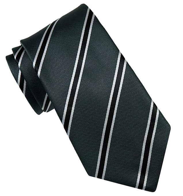 Dark-grey striped tie by Retreez