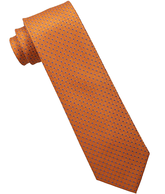 Blue-dotted orange tie by Tommy Hilfiger