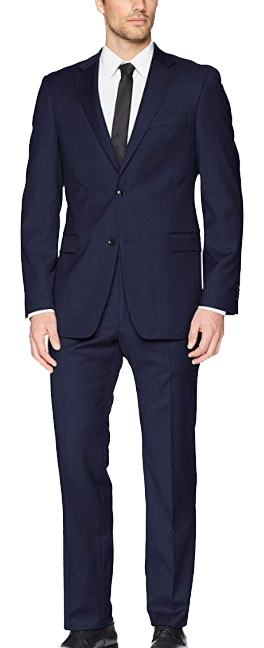 Modern-fit navy suit by Tommy Hilfiger