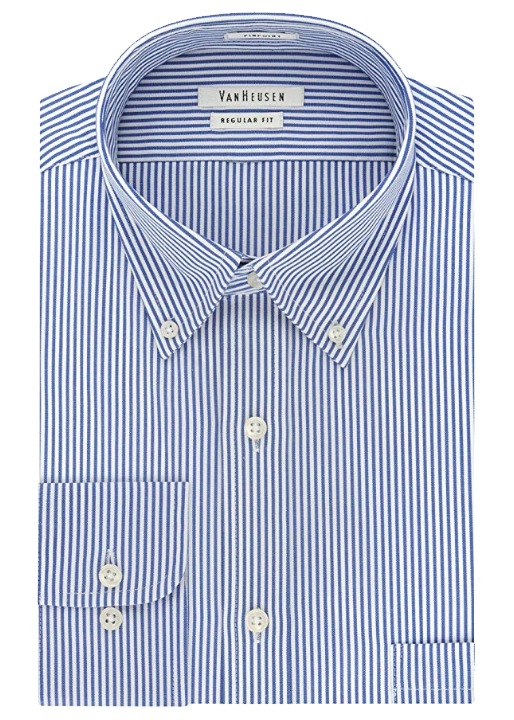 Regular-fit blue-striped shirt by Van Heusen