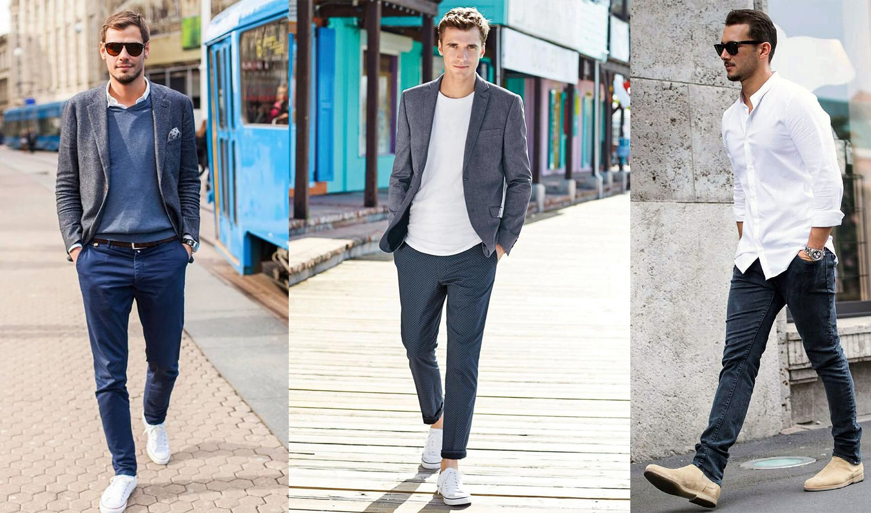 Different smart casual styles