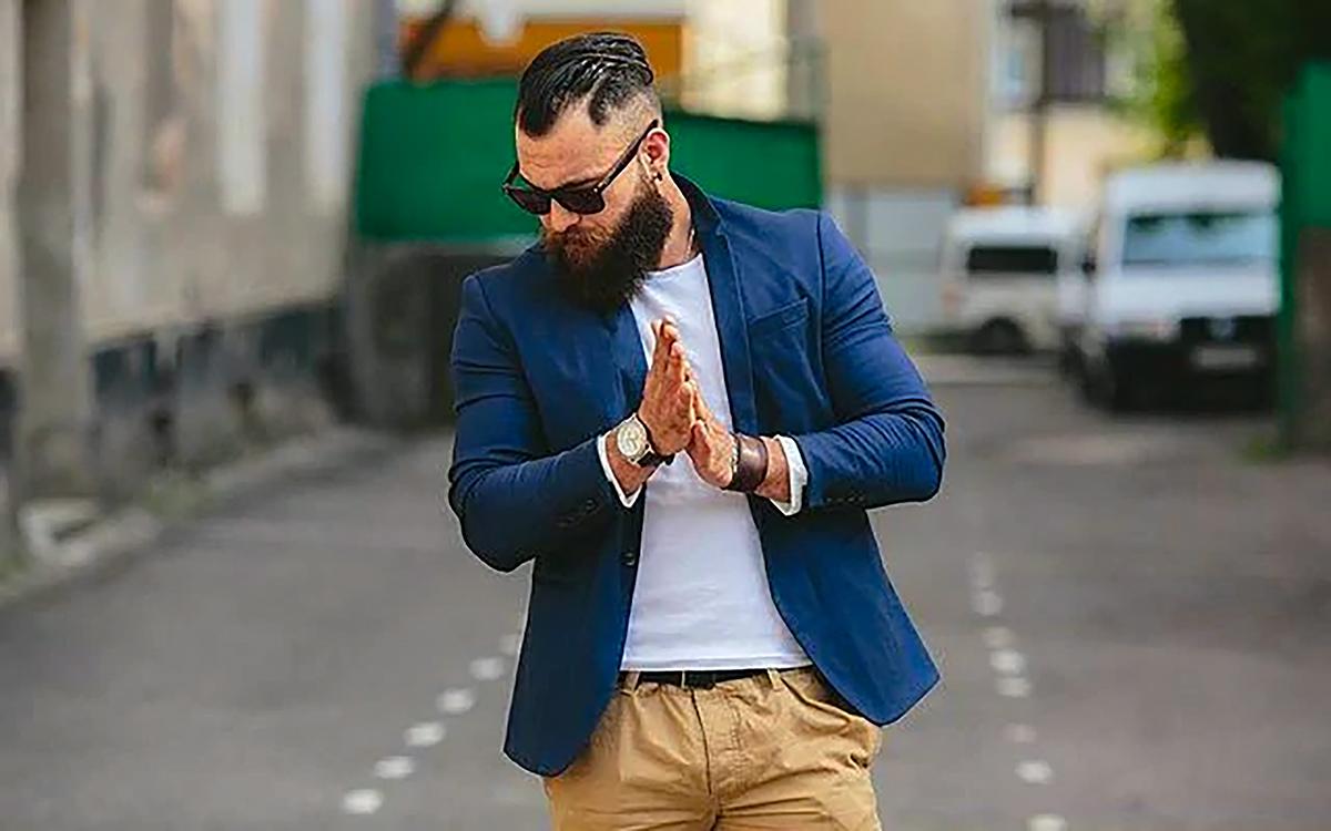 Different colors of smart casual attire