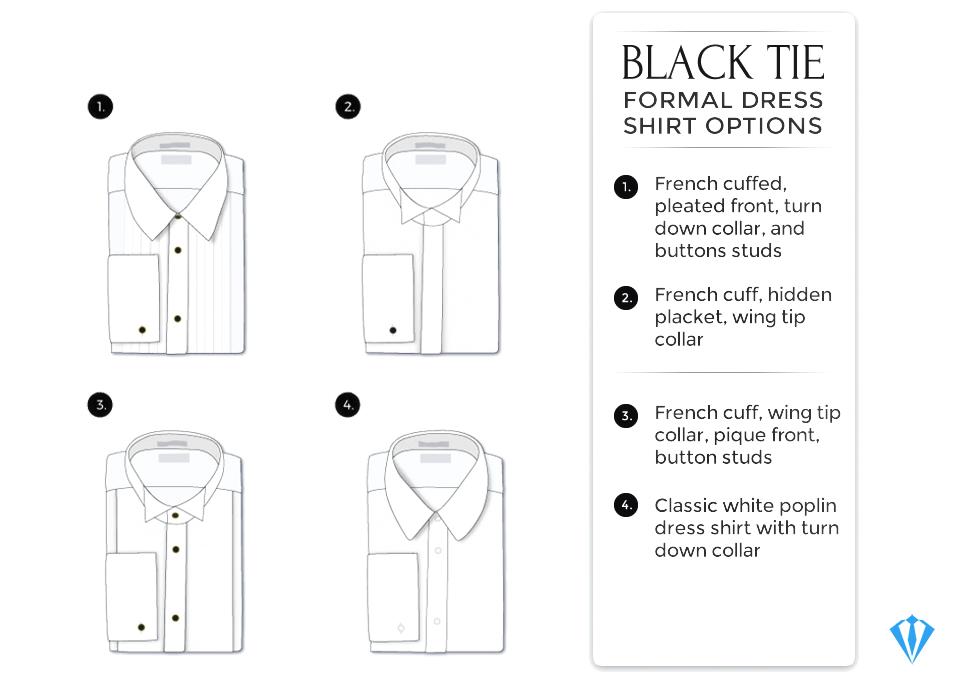 Dress shirts for tuxedo