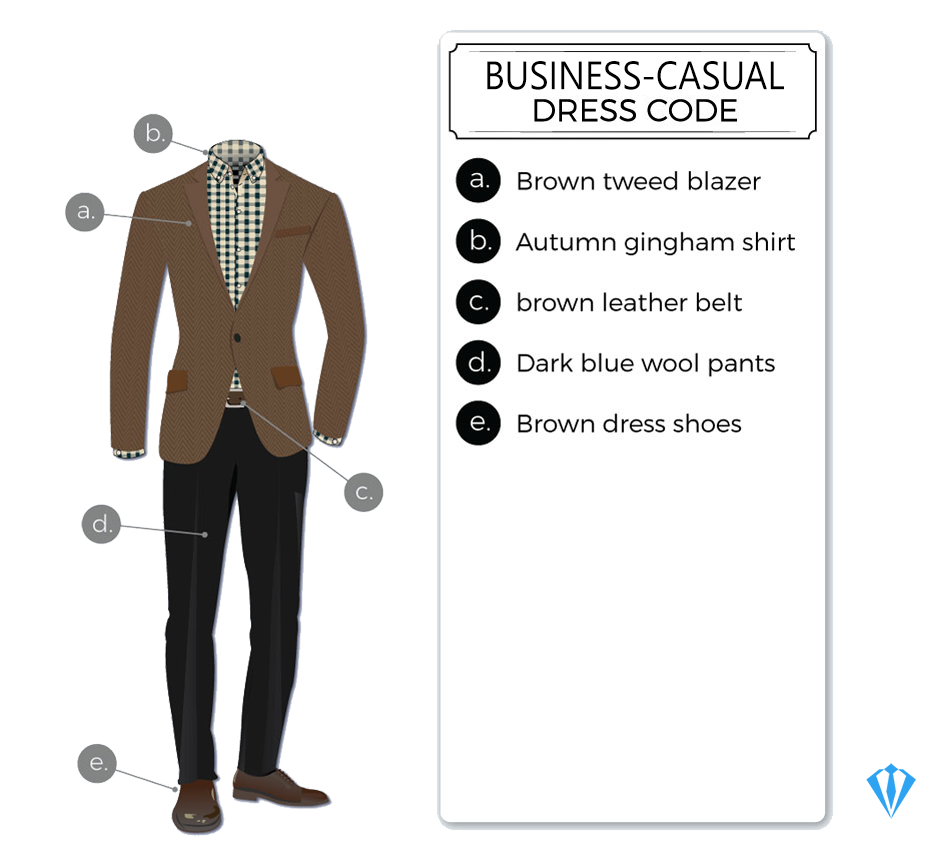 Business-casual dress-code attire