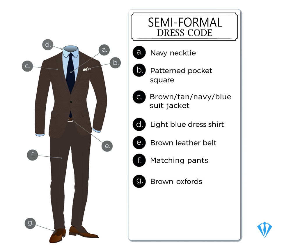 Semi-formal dress code attire