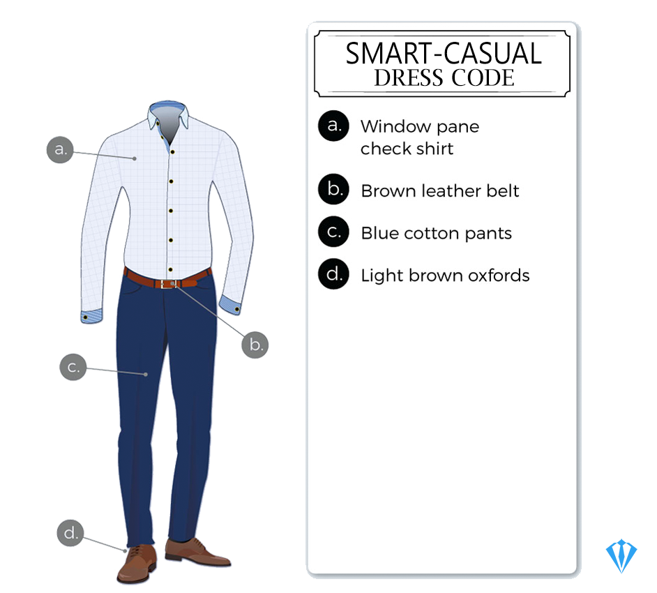 Smart-casual dress-code attire