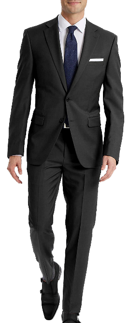 Charcoal slim-fit suit by Calvin Klein