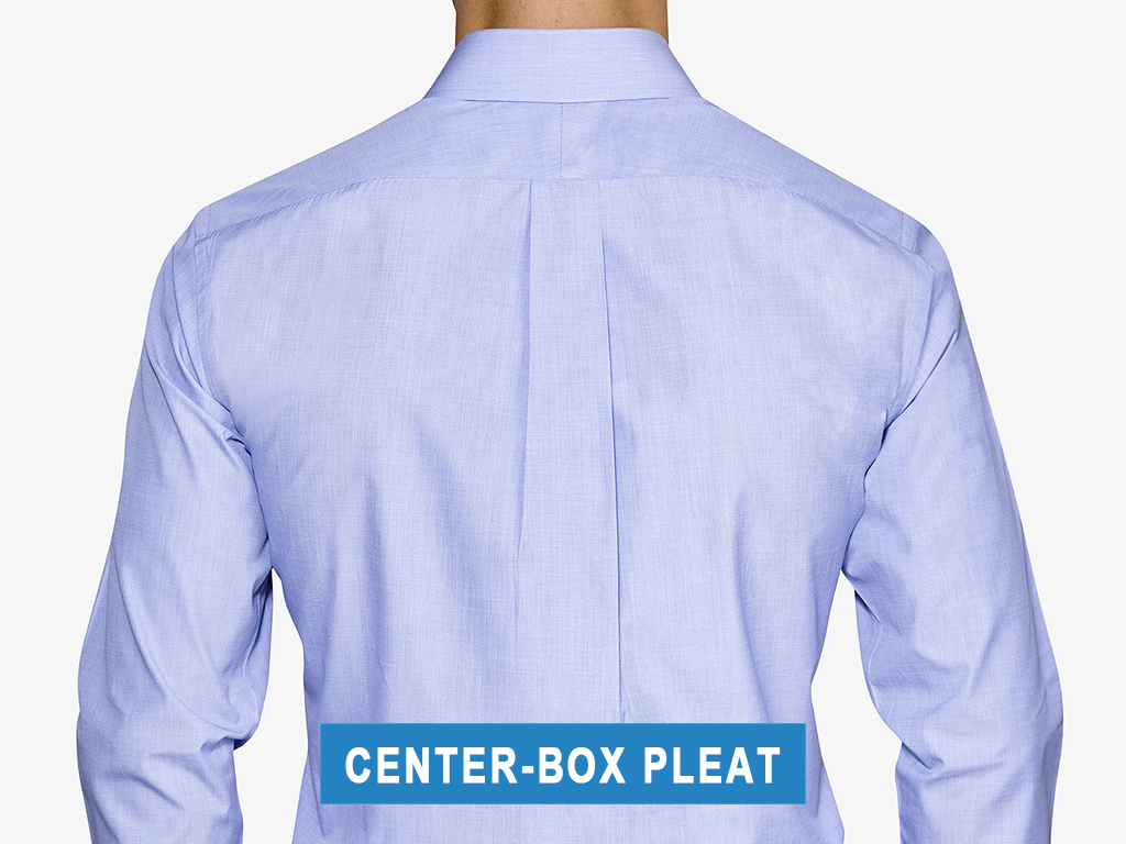 Center-box back pleats