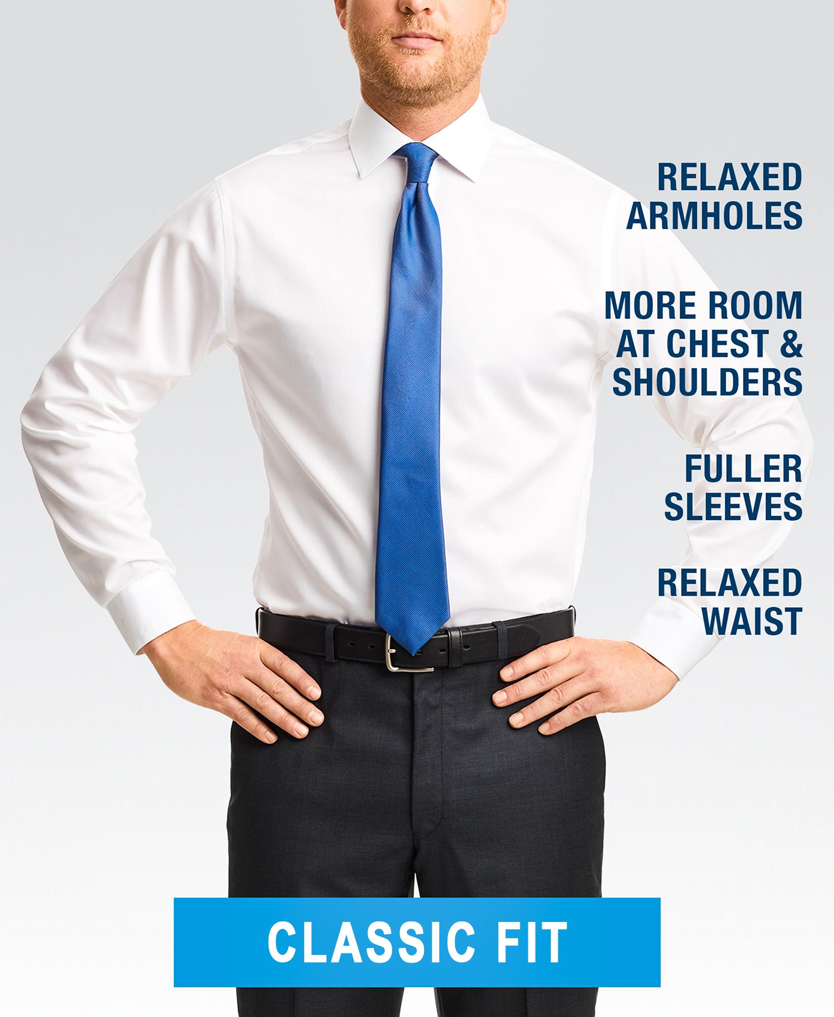 Classic fit dress shirt style