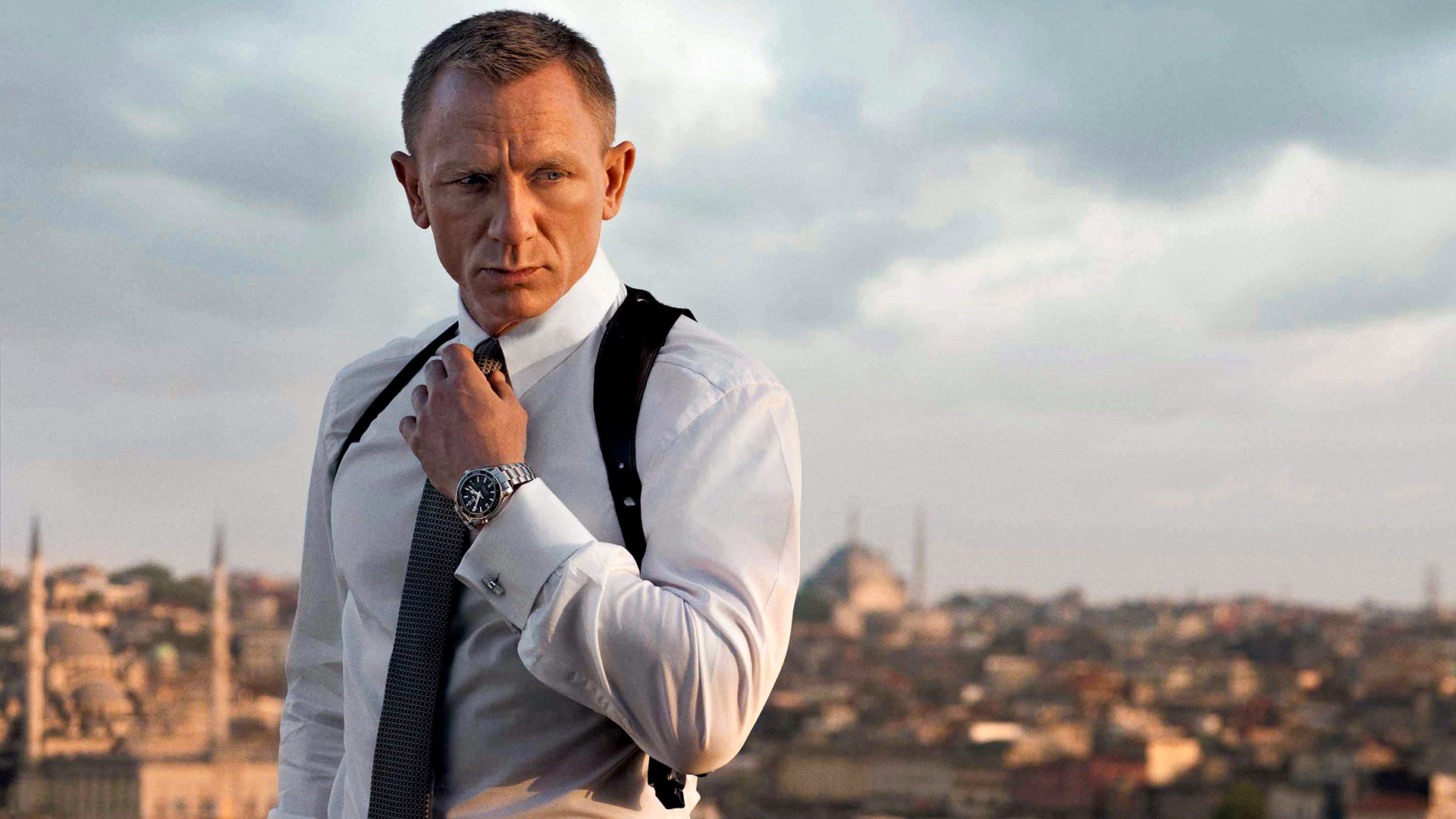 James Bond with the latest Omega watch