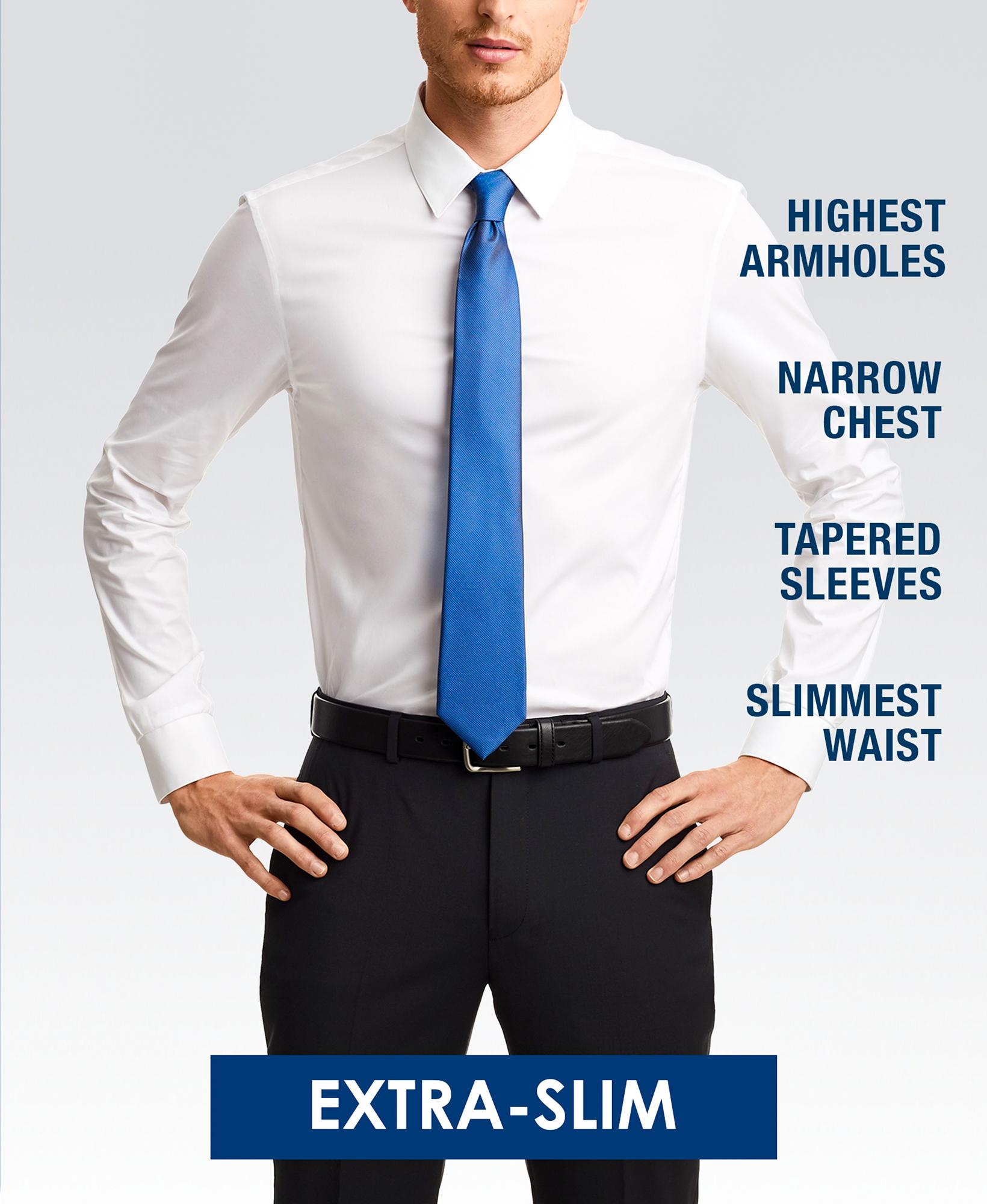 Extra-slim (skinny) fit dress shirt style