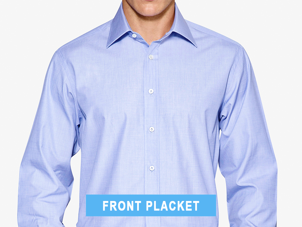 Front placket type