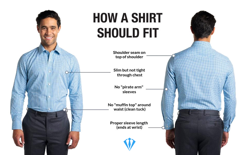 How to properly fit your dress shirt