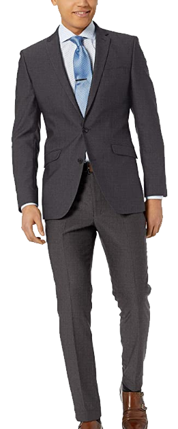 Charcoal grey slim-fit suit by Kenneth Cole Unlisted
