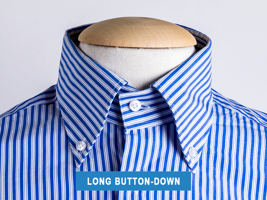 The long button-down collar type
