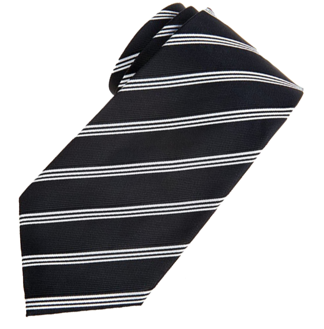 Black striped tie by Retreez