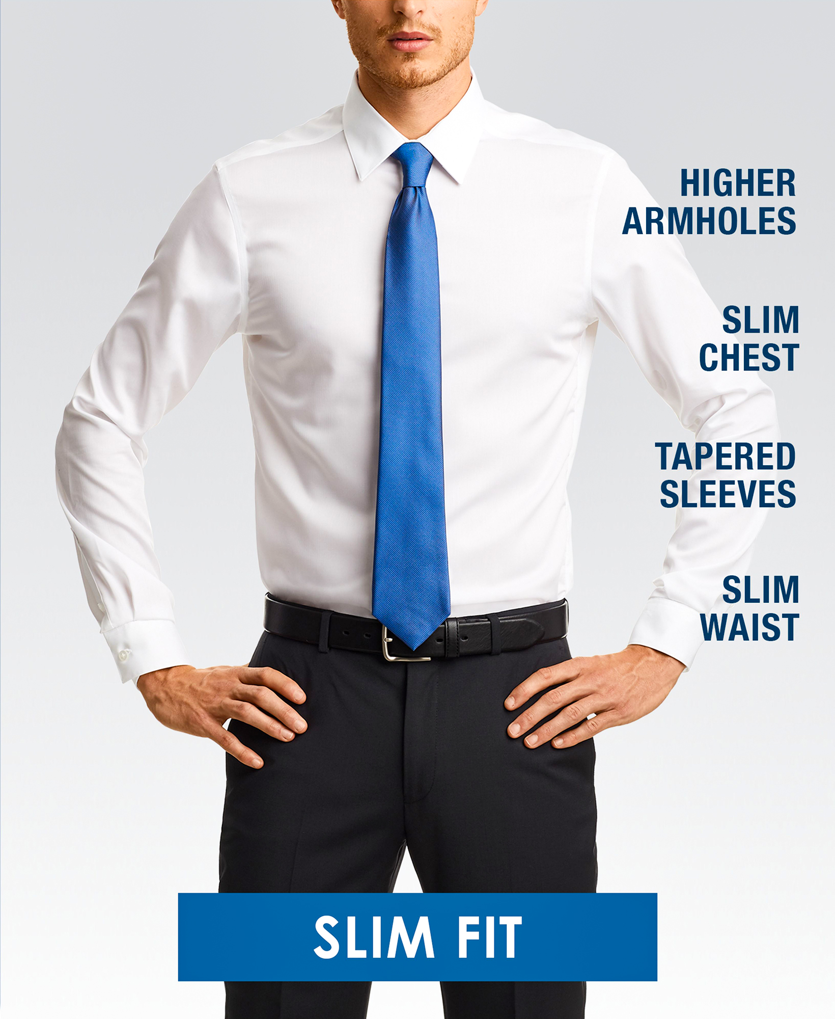 Slim fit dress shirt style