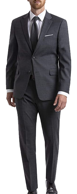 Dark grey classic-fit suit by Tommy Hilfiger