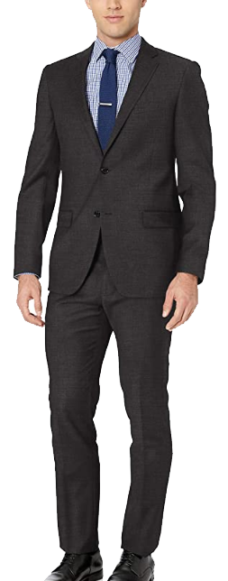 Dark grey slim-fit suit by Tommy Hilfiger