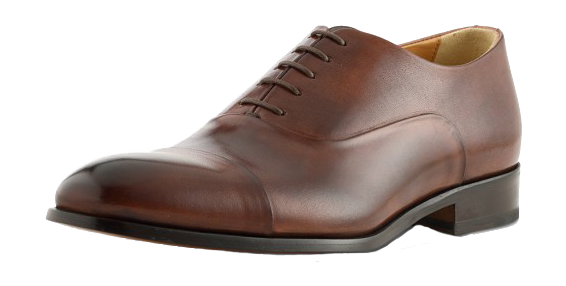 Brown leather cap-toe oxford dress shoes by Ace Marks