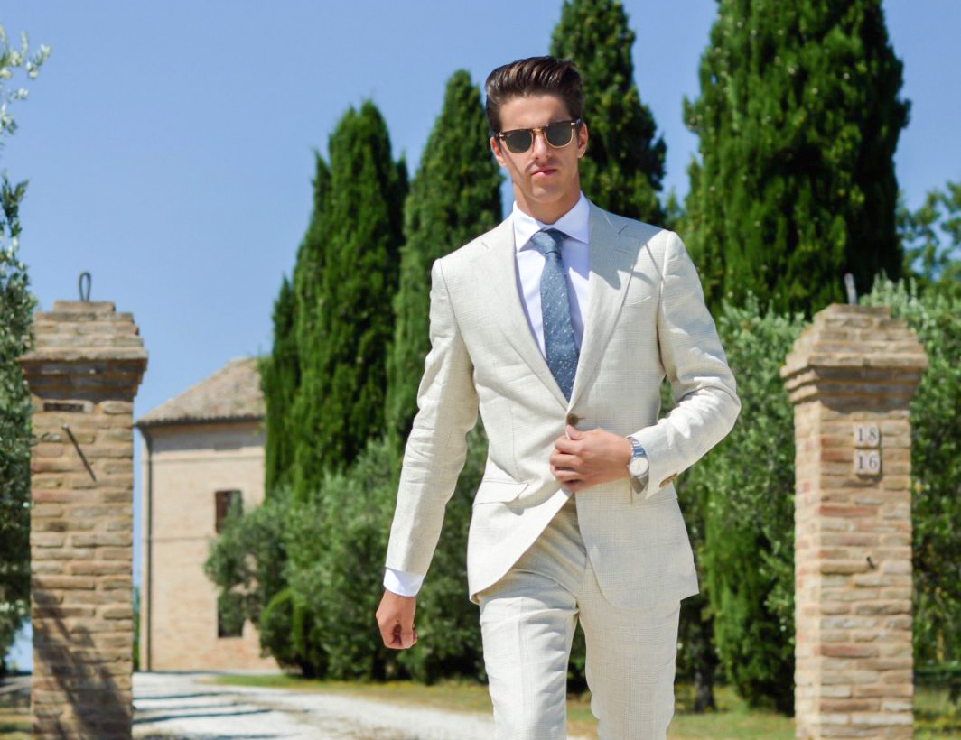 beige suit color combinations with shirt and tie